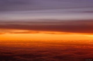 aerial, sunset, orange, clouds, utah