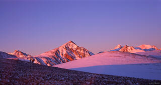 Niwot Ridge, Indian Peaks, sunrise, alpenglow, Colorado