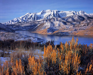 Mt. Timpanogos, Deer Creek Reservoir, Wasatch Range, Utah