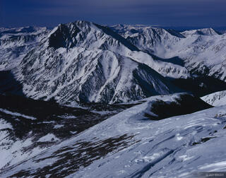 La Plata Peak, moonlight, fourteener, Sawatch Range, Colorado