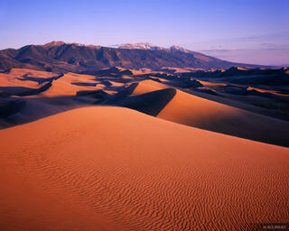 sunset, Great Sand Dunes National Park, Colorado