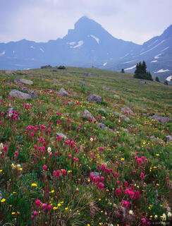 Wetterhorn Peak, Uncompahgre Wilderness, Colorado, smoke