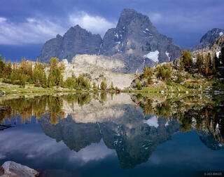 Grand Teton, reflection, Mt. Owen, Wyoming