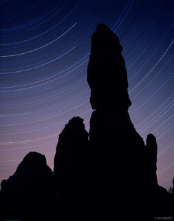 star trails, Canyonlands National Park, Utah
