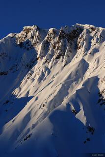 Uncompahgre Wilderness, snowy peak, San Juan Mountains, Colorado