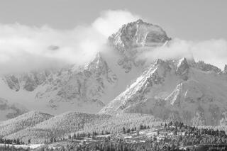 Mt. Sneffels Winter B/W