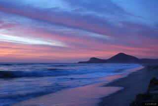 Playa Cerritos, sunset