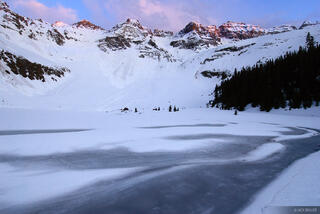 Blue Lake, Sunset, Sneffels Range, San Juan Mountains, Colorado