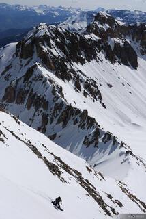 Snowboarding, Sneffels Range, Colorado