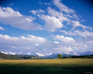 Sneffels Range, clouds, San Juans, Colorado