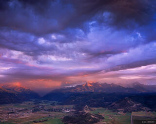 Ridgway, Sneffels Range, sunset, Colorado