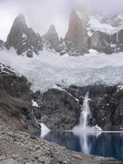 Glaciar Rio Blanco, Laguna Sucia, Parque Nacional los Glaciares, Argentina, Cerro Poincenot