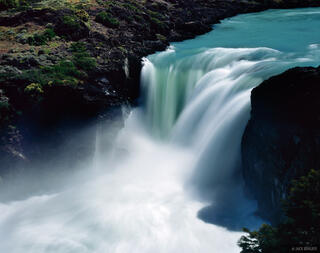Salto Grande, waterfall, Torres del Paine, Chile