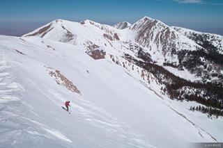 Manns Peak, La Sals, ski traverse, Utah