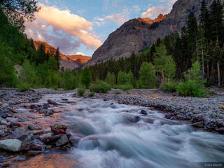 Colorado, Cow Creek, San Juan Mountains, sunset, July, Uncompahgre Wilderness