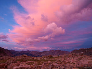 Weminuche Wilderness, Colorado, sunset