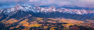 Sneffels Range, panorama, Baldy Peak, San Juan Mountains, Colorado