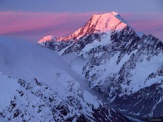 Mount Cook, Aoraki, sunset, New Zealand
