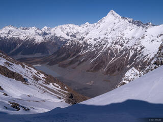 New Zealand, Southern Alps, Ball Pass, Hooker Lake