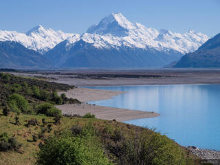 New Zealand, Southern Alps, Aoraki, Mount Cook, Lake Pukaki