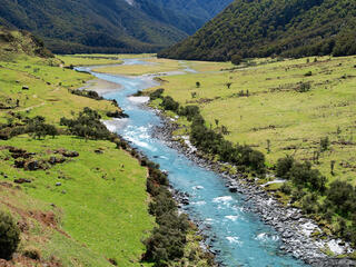 Matukituki, river, Mt. Aspiring, National Park, New Zealand