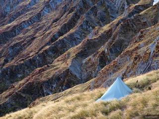 Cascade Saddle, Mount Aspiring National Park, campsite, tent, New Zealand