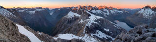 Fiordland, panorama, Darran Mountains, Milford Sound, New Zealand