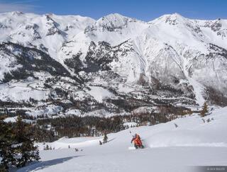 snowboarder, San Juans, Colorado