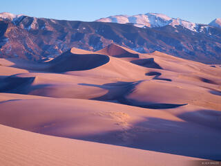 Star Dune, Great Sand Dunes, Colorado, sunset