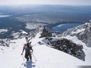 Tetons, Wyoming, Rockchuck Peak, Jackson Lake, hiking, rockchuck, snow, spring, May, backcountry, Grand Teton National Park