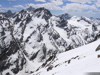 Tetons, Wyoming, snowboarding, Mt. Moran