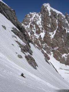 Tetons, Wyoming, snowboarding, Middle Teton