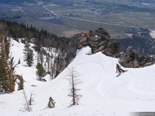 Tetons, Wyoming, snowboarding, Granite Canyon, spring, may