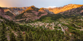 Ouray, Colorado, sunset, alpenglow