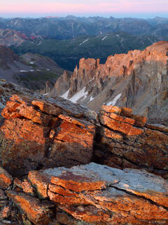 San Juans, Colorado, sunset, summit