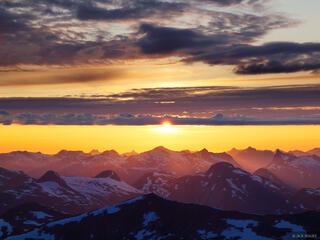 Sunnmøre, Norway, Skåla, sunset, Jostedalsbreen