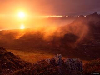 Bodø, Stranda, Kjerringøy, Blåfjellet, Norway, sunset