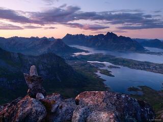Austvågøya, Lofoten Islands, Norway, Trolltindan, Fløya, Svolvær
