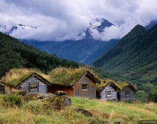 cabins, Norangsfjorden, Sunnmøre, Norway