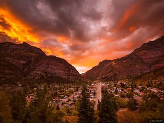 Ouray, sunset, Colorado