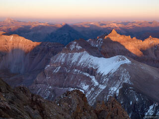 Sneffels, fourteener, sunset, San Juans, Colorado