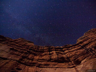 Sheiks Canyon, Grand Gulch, Utah, stars, Bears Ears National Monument