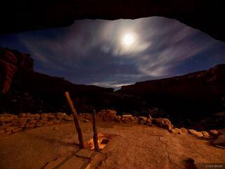 Grand Gulch, kiva, Utah, night, Bears Ears National Monument