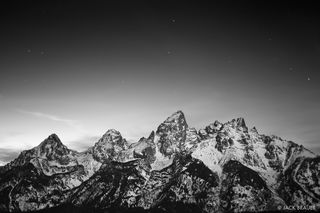 Tetons Moonlight B/W