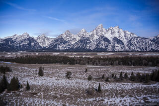 Tetons,Wyoming,moonlight, Jackson Hole