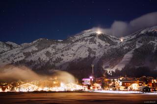 Jackson Hole, Teton Village, Wyoming, night