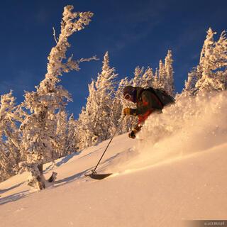 skiing, sunset, Teton Pass, Wyoming, Tetons