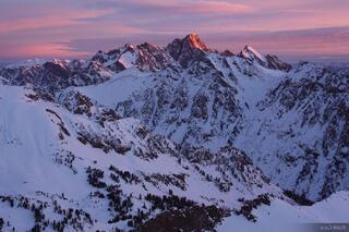 Mt. Moran, sunrise, alpenglow, Tetons, Wyoming