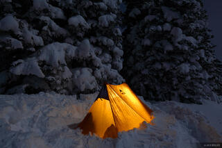 winter camping, tent, Table Mountain