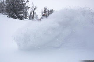 snowboarding, powder, february, tetons, wyoming